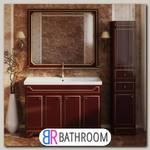 Мебель для ванной Misty Praga 120 бордо патина