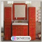 Мебель для ванной Misty Fresko 90 красная краколет