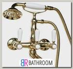 Смеситель для ванны Magliezza Bianco золото (50105-4-do)