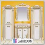 Мебель для ванной Misty Барокко 80 бежевая, патина
