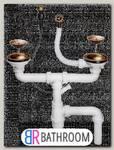 Клапан-автомат латунь 2 чаши (4996008)