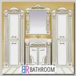 Мебель для ванной Misty Барокко 80 белая, патина